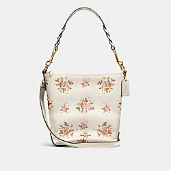 MINI ABBY DUFFLE WITH ROSE BOUQUET PRINT - 91022 - IM/CHALK MULTI