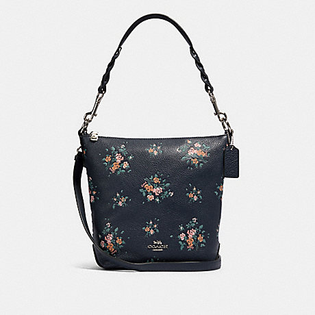 COACH 91022 MINI ABBY DUFFLE WITH ROSE BOUQUET PRINT SV/MIDNIGHT MULTI
