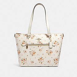GALLERY TOTE WITH ROSE BOUQUET PRINT - 91023 - IM/CHALK MULTI