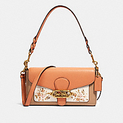 COACH 91024 - JADE SHOULDER BAG WITH ROSE BOUQUET PRINT OL/CHALK MULTI