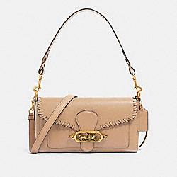 COACH 91025 - SMALL JADE SHOULDER BAG WITH WHIPSTITCH OL/TAUPE