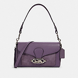 COACH 91027 - JADE SHOULDER BAG SV/DUSTY LAVENDER