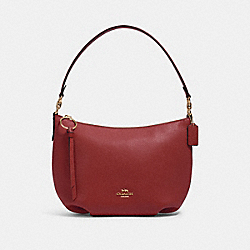 SMALL SKYLAR HOBO - 91028 - IM/DEEP SCARLET