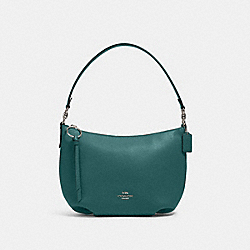 COACH 91028 Small Skylar Hobo SV/DARK TURQUOISE