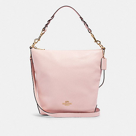 COACH 91032 ABBY SHOULDER BAG WITH ROSE BOUQUET PRINT INTERIOR IM/BLOSSOM