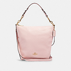 ABBY SHOULDER BAG WITH ROSE BOUQUET PRINT INTERIOR - 91032 - IM/BLOSSOM