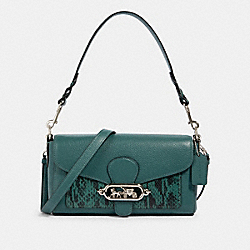 COACH 91034 - JADE SHOULDER BAG SV/DARK TURQUOISE