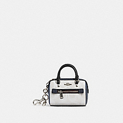 COACH 91040 Rowan Coin Case In Blocked Signature Canvas SV/CHALK MULTI