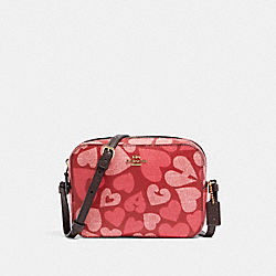 COACH 91042 - MINI CAMERA BAG WITH COACH HEART PRINT IM/JASPER MULTI