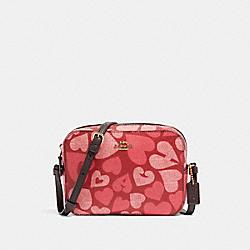 MINI CAMERA BAG WITH COACH HEART PRINT - 91042 - IM/JASPER MULTI