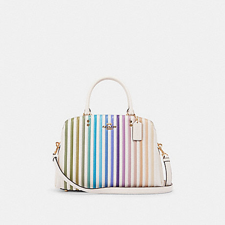 COACH 91051 LILLIE CARRYALL WITH OMBRE QUILTING IM/CHALK MULTI