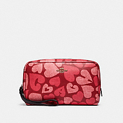 COACH 91060 Boxy Cosmetic Case With Coach Heart Print IM/JASPER MULTI