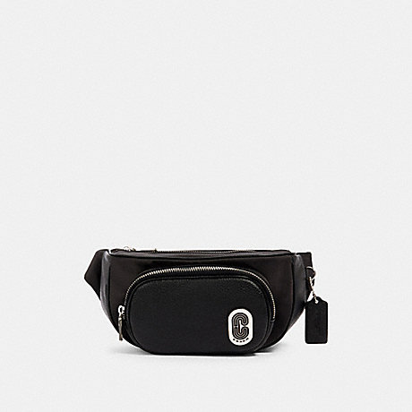 COACH 91066 COURT BELT BAG SV/BLACK