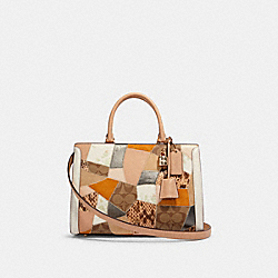 ZOE CARRYALL WITH PATCHWORK - 91088 - IM/CHALK MULTI