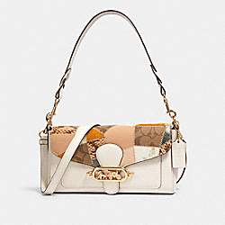 COACH 91090 - JADE SHOULDER BAG WITH PATCHWORK IM/CHALK MULTI