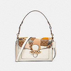 COACH 91092 - JADE MESSENGER WITH PATCHWORK IM/CHALK MULTI