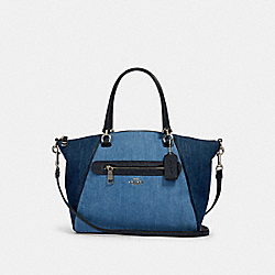 PRAIRIE SATCHEL - 91094 - SV/DENIM MULTI
