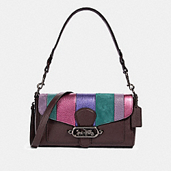 COACH 91095 - JADE SHOULDER BAG WITH PIECING QB/OXBLOOD MULTI
