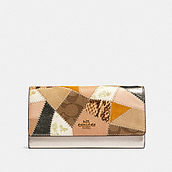 COACH 91098 Trifold Wallet With Patchwork IM/CHALK MULTI