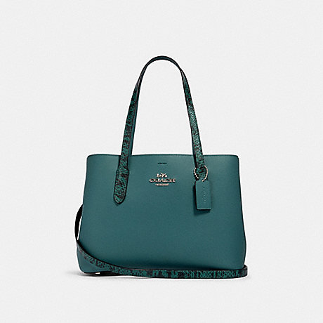 COACH 91101 AVENUE CARRYALL SV/DARK-TURQUOISE/WASHED-GREEN