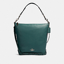 COACH 91102 - ABBY SHOULDER BAG SV/DARK TURQUOISE