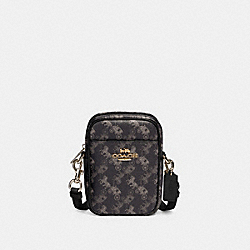 PHOEBE CROSSBODY WITH HORSE AND CARRIAGE PRINT - 91108 - IM/BLACK GREY MULTI