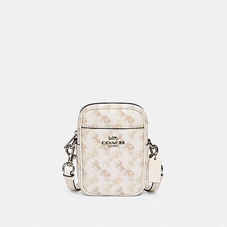 COACH 91108 PHOEBE CROSSBODY WITH HORSE AND CARRIAGE PRINT SV/CREAM-BEIGE-MULTI