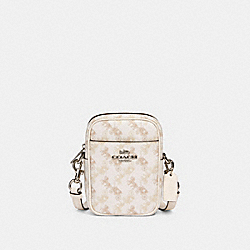 PHOEBE CROSSBODY WITH HORSE AND CARRIAGE PRINT - 91108 - SV/CREAM BEIGE MULTI