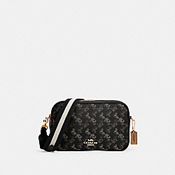 JES CROSSBODY WITH HORSE AND CARRIAGE PRINT - 91109 - IM/BLACK GREY MULTI