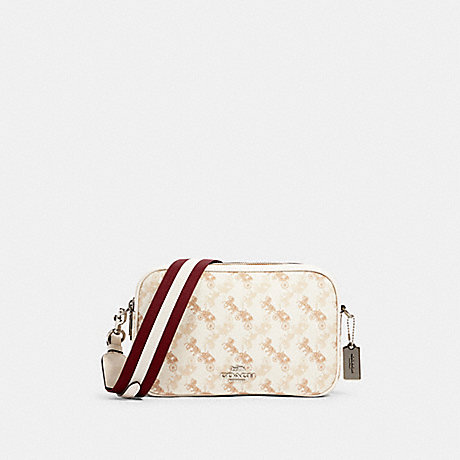 COACH 91109 JES CROSSBODY WITH HORSE AND CARRIAGE PRINT SV/CREAM-BEIGE-MULTI