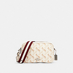 JES CROSSBODY WITH HORSE AND CARRIAGE PRINT - 91109 - SV/CREAM BEIGE MULTI