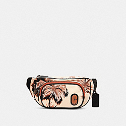 COACH 91114 - COURT BELT BAG WITH GLOWING PALM PRINT QB/PEACH MULTI