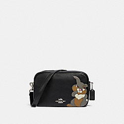 DISNEY X COACH JES CROSSBODY IN SIGNATURE CANVAS WITH THUMPER - 91115 - SV/BLACK/SMOKE BLACK MULTI