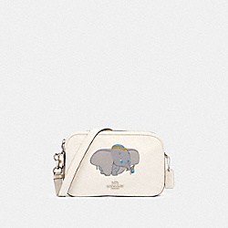 DISNEY X COACH JES CROSSBODY IN SIGNATURE CANVAS WITH DUMBO - 91118 - SV/CHALK KHAKI MULTI