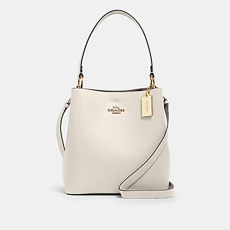 COACH 91122 TOWN BUCKET BAG IM/CHALK LIGHT SADDLE