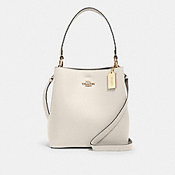 COACH 91122 - TOWN BUCKET BAG IM/CHALK LIGHT SADDLE