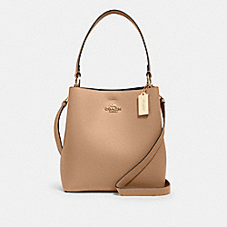 TOWN BUCKET BAG - 91122 - IM/TAUPE OXBLOOD