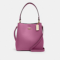 COACH 91122 - TOWN BUCKET BAG IM/LILAC BERRY OXBLOOD