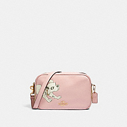 DISNEY X COACH JES CROSSBODY IN SIGNATURE CANVAS WITH DALMATIAN - 91125 - IM/BLOSSOM/LIGHT KHAKI MULTI