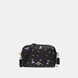 DISNEY X COACH JES CROSSBODY WITH DALMATIAN FLORAL PRINT - 91126 - IM/BLACK MULTI