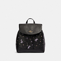 COACH 91127 - DISNEY X COACH ELLE BACKPACK WITH DALMATIAN FLORAL PRINT IM/BLACK MULTI