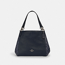 HALLIE SHOULDER BAG IN SIGNATURE CANVAS - 91133 - SV/DENIM MIDNIGHT