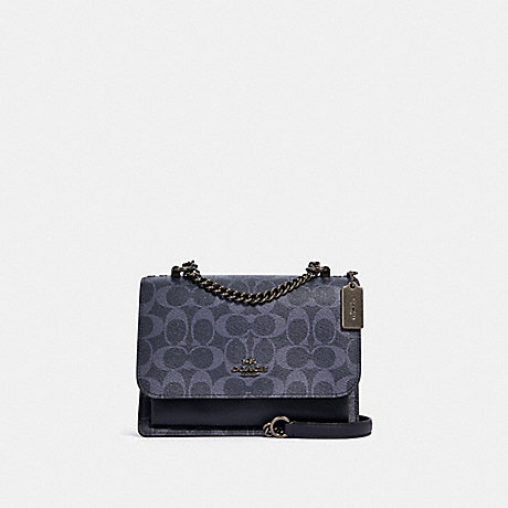 COACH 91134 KLARE CROSSBODY IN SIGNATURE CANVAS SV/DENIM MIDNIGHT