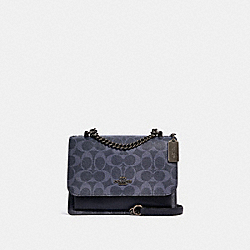 KLARE CROSSBODY IN SIGNATURE CANVAS - 91134 - SV/DENIM MIDNIGHT