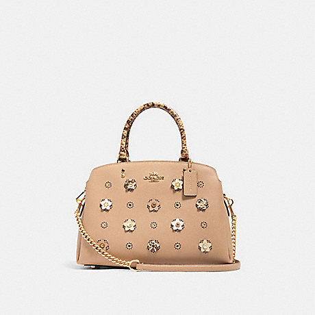 COACH 91141 LILLIE CARRYALL WITH DAISY APPLIQUE IM/TAUPE-MULTI