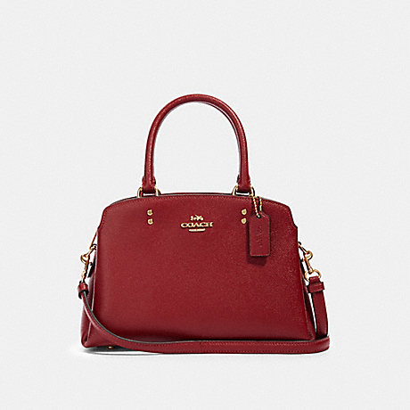 COACH 91146 MINI LILLIE CARRYALL IM/DEEP-SCARLET