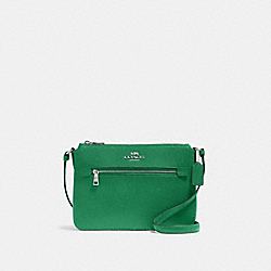 COACH 91148 Gallery File Bag SV/SHAMROCK