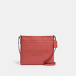 COACH 91167 File Bag With Coach Print IM/BRIGHT CORAL