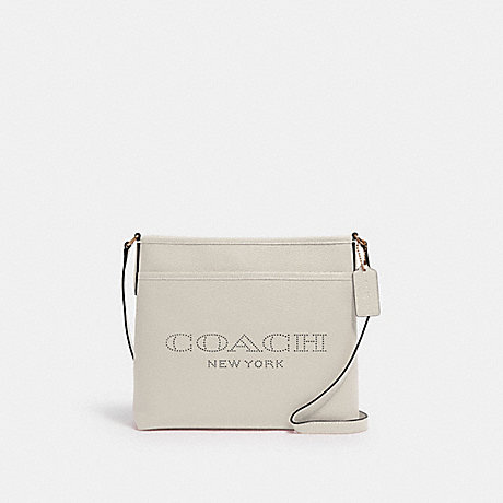 COACH 91167 FILE BAG WITH COACH PRINT IM/CHALK