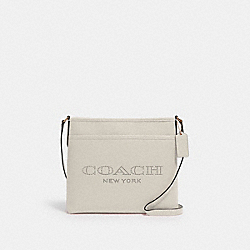 COACH 91167 File Bag With Coach Print IM/CHALK